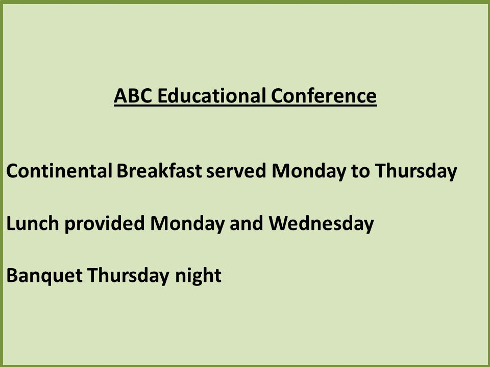 ABC Educational Conference