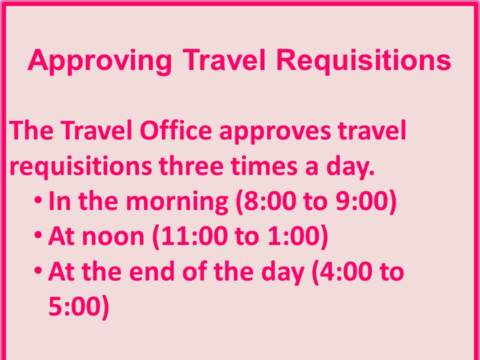 Approving Travel Requisitions