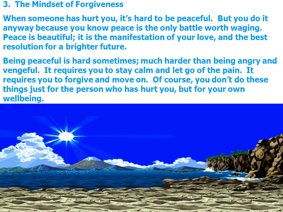 3. The Mindset of Forgiveness