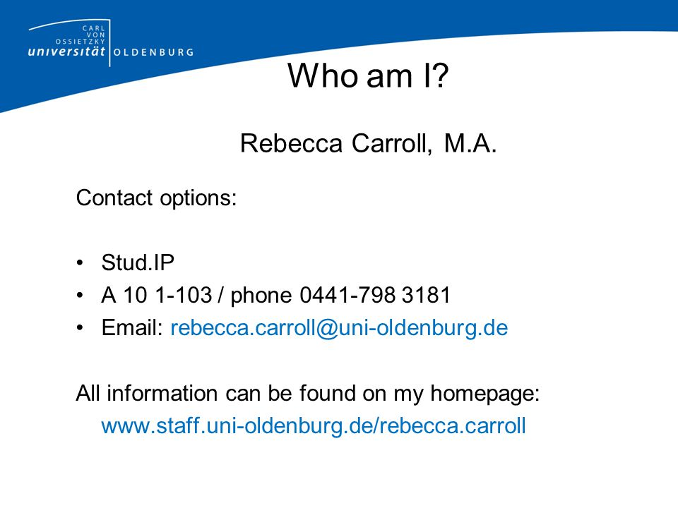 Who am I Rebecca Carroll, M.A.