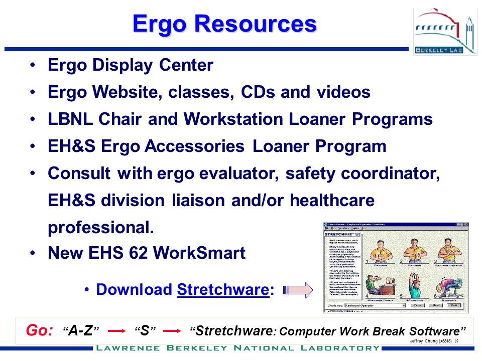 Ergo Resources Ergo Display Center