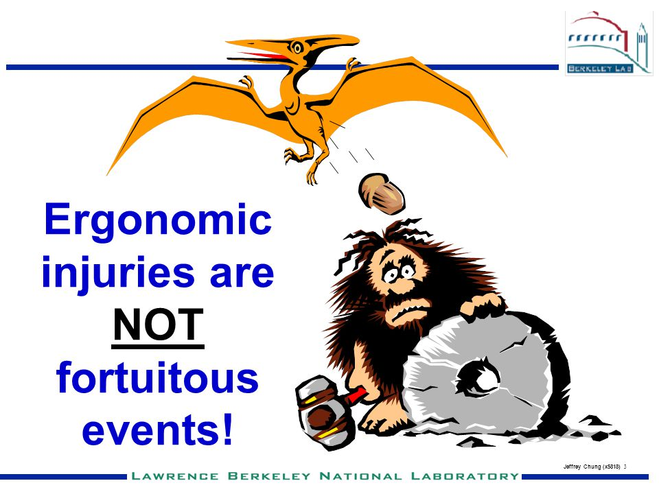 Ergonomic injuries are NOT fortuitous events!