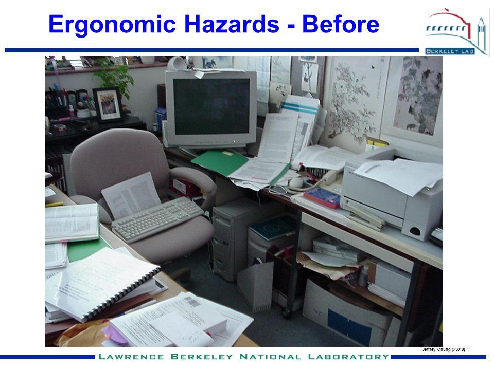 Ergonomic Hazards - Before