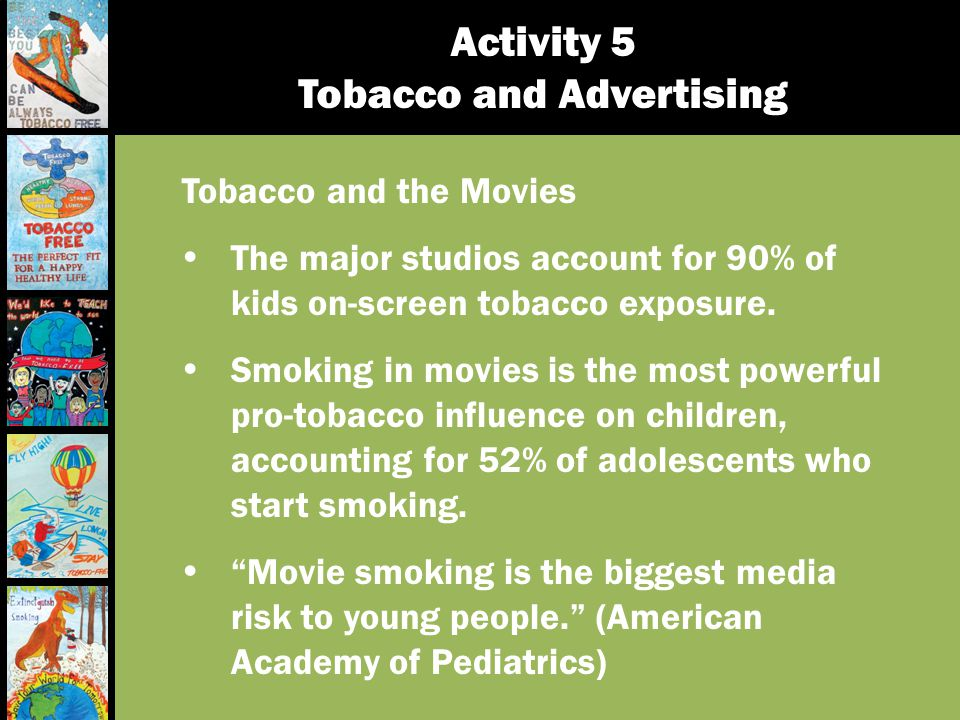 Activity 5 Tobacco and Advertising