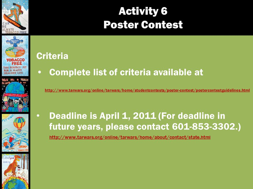 Activity 6 Poster Contest