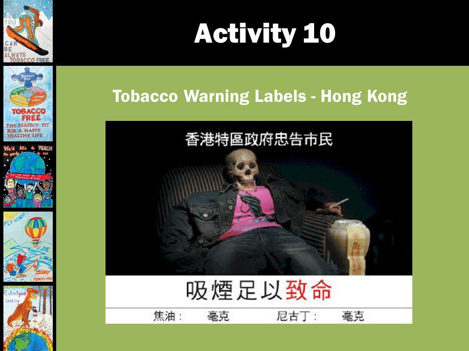 Tobacco Warning Labels - Hong Kong