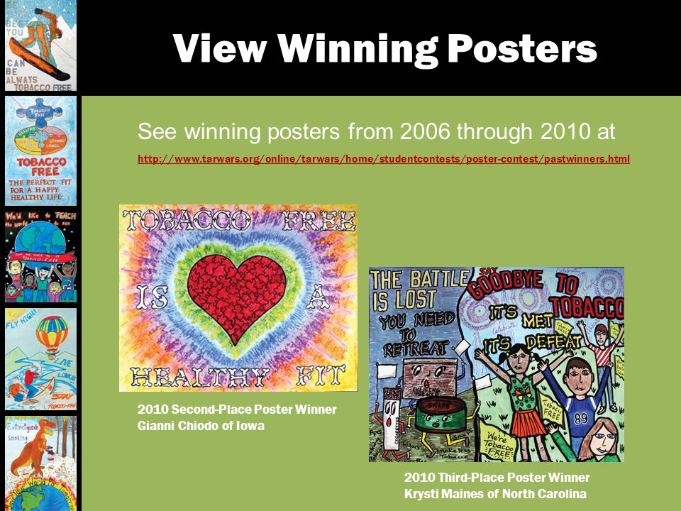 View Winning Posters See winning posters from 2006 through 2010 at