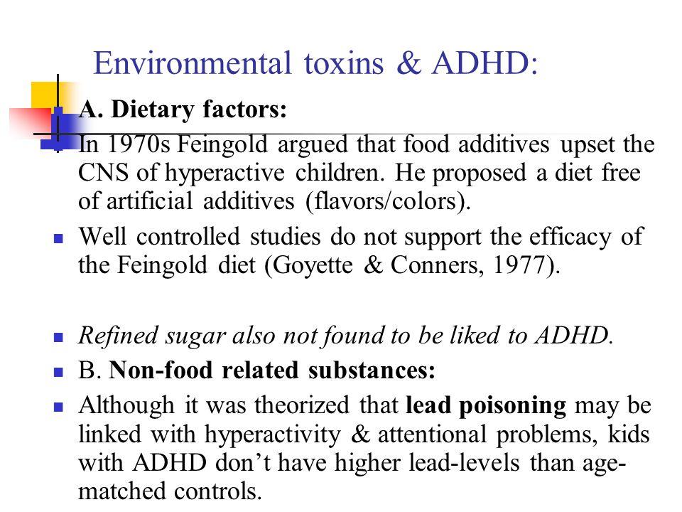 Environmental toxins & ADHD: