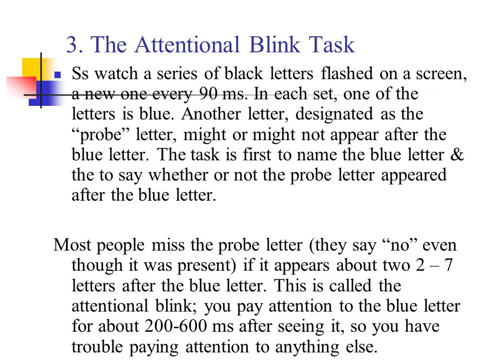 3. The Attentional Blink Task