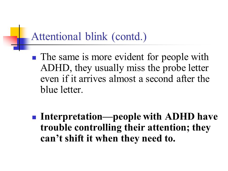 Attentional blink (contd.)