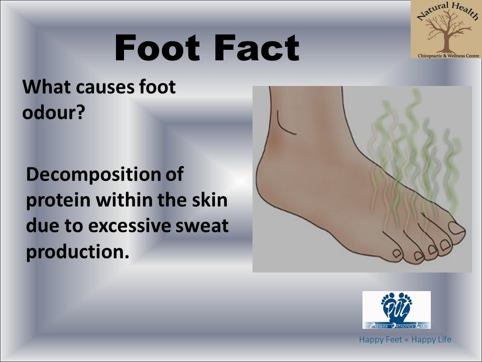 Foot Fact What causes foot odour