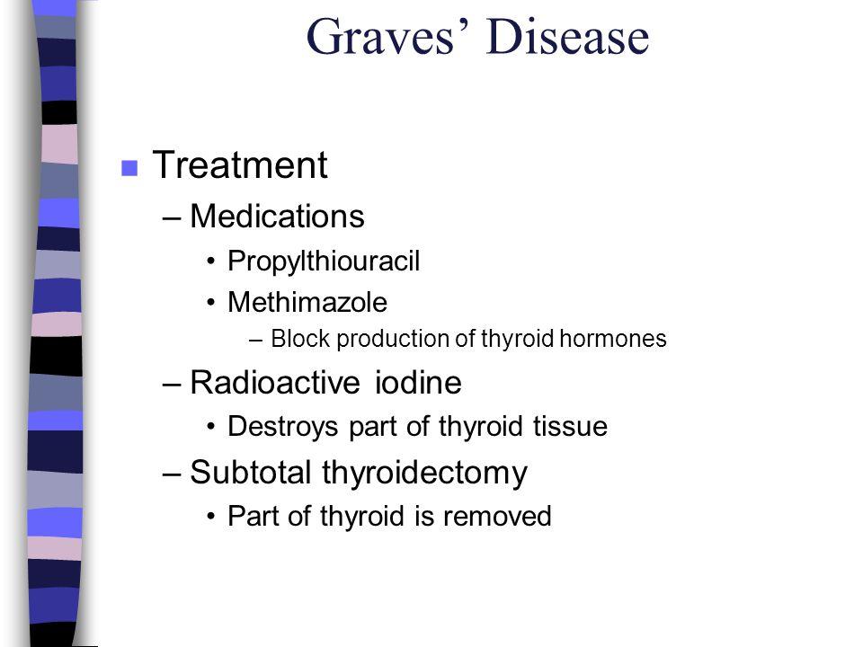 Graves' Disease Treatment Medications Radioactive iodine