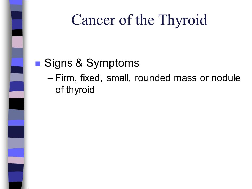Cancer of the Thyroid Signs & Symptoms