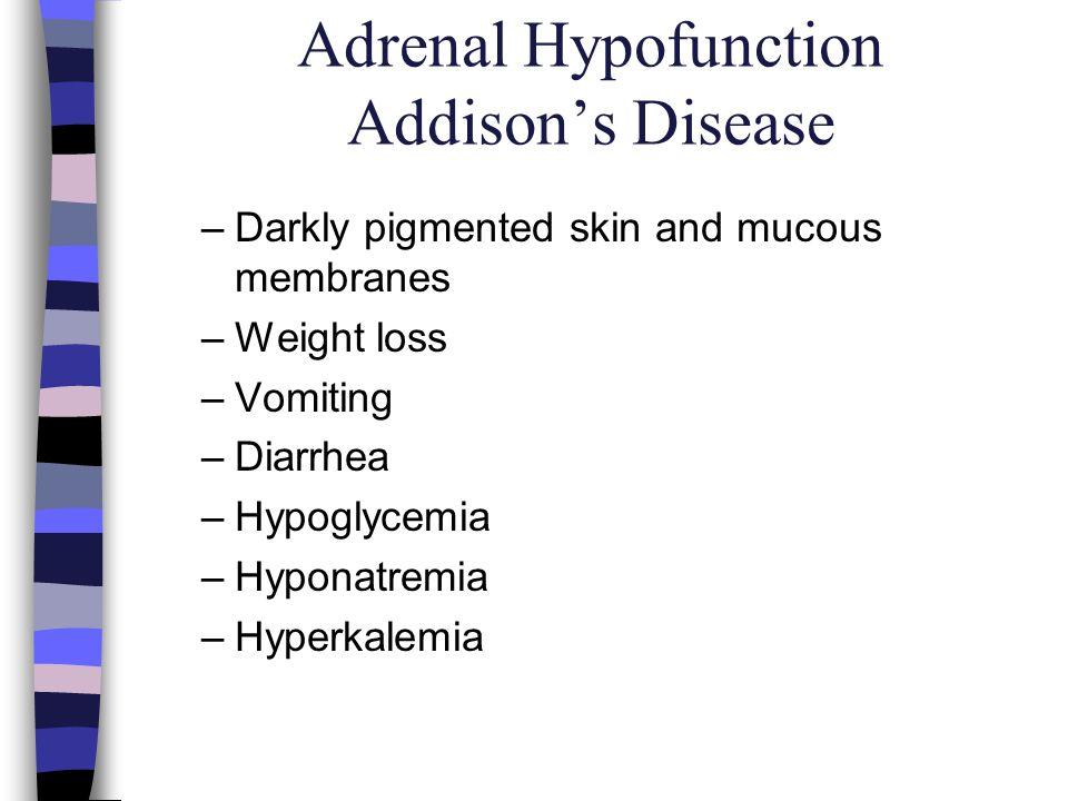 Adrenal Hypofunction Addison's Disease