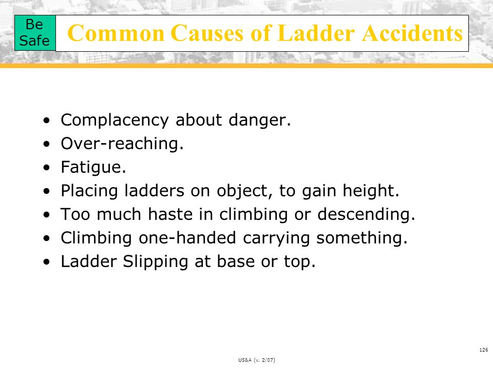 Common Causes of Ladder Accidents