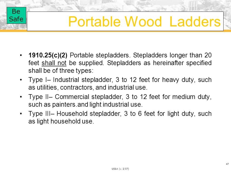 Portable Wood Ladders
