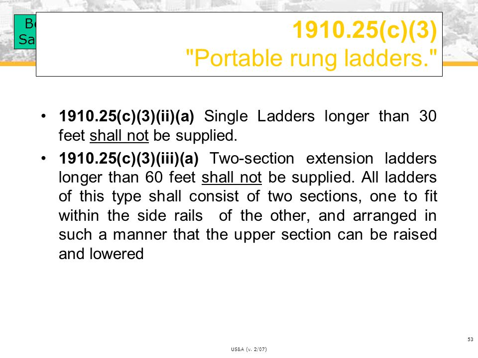 1910.25(c)(3) Portable rung ladders.