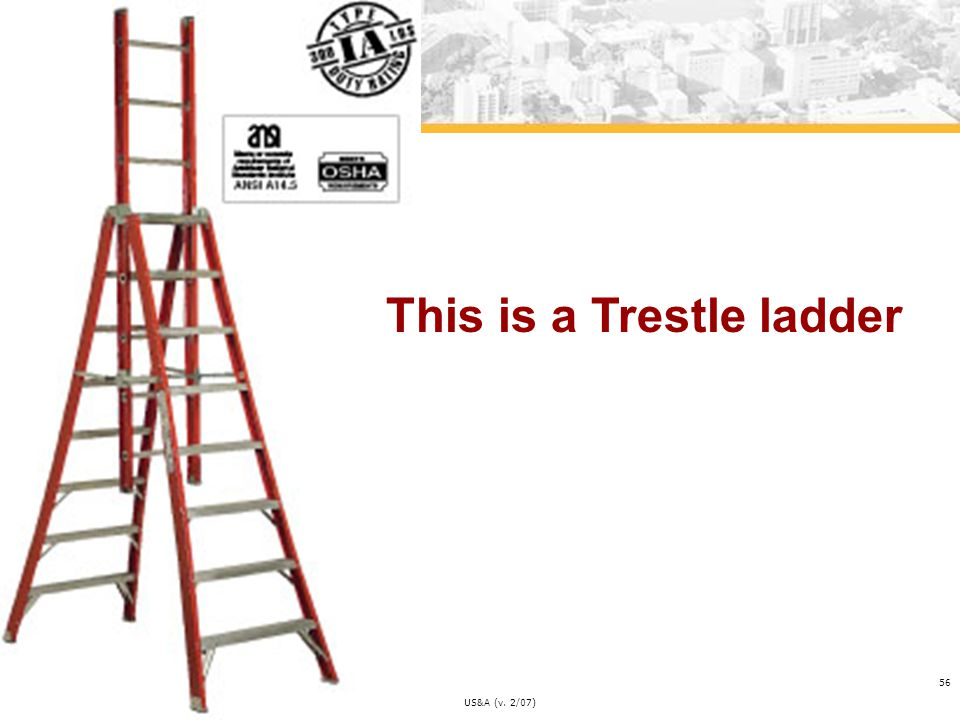 This is a Trestle ladder