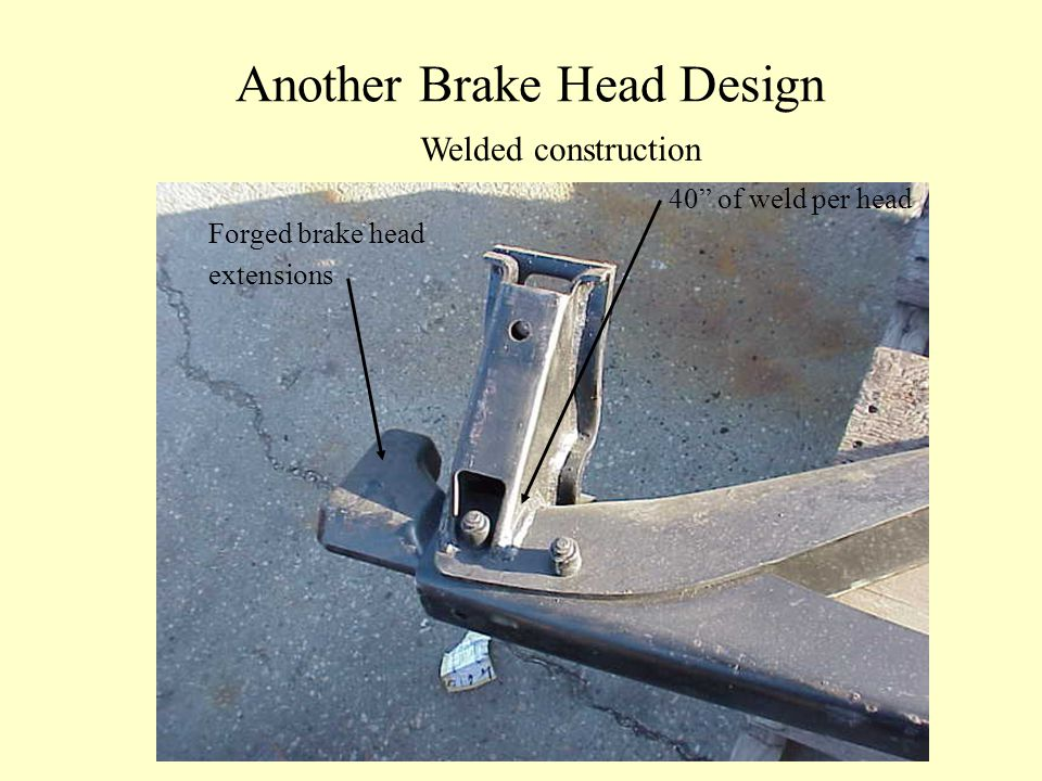 Another Brake Head Design