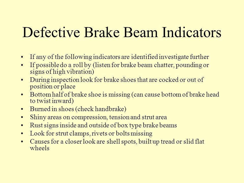 Defective Brake Beam Indicators