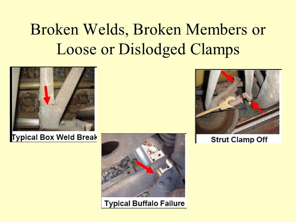 Broken Welds, Broken Members or Loose or Dislodged Clamps