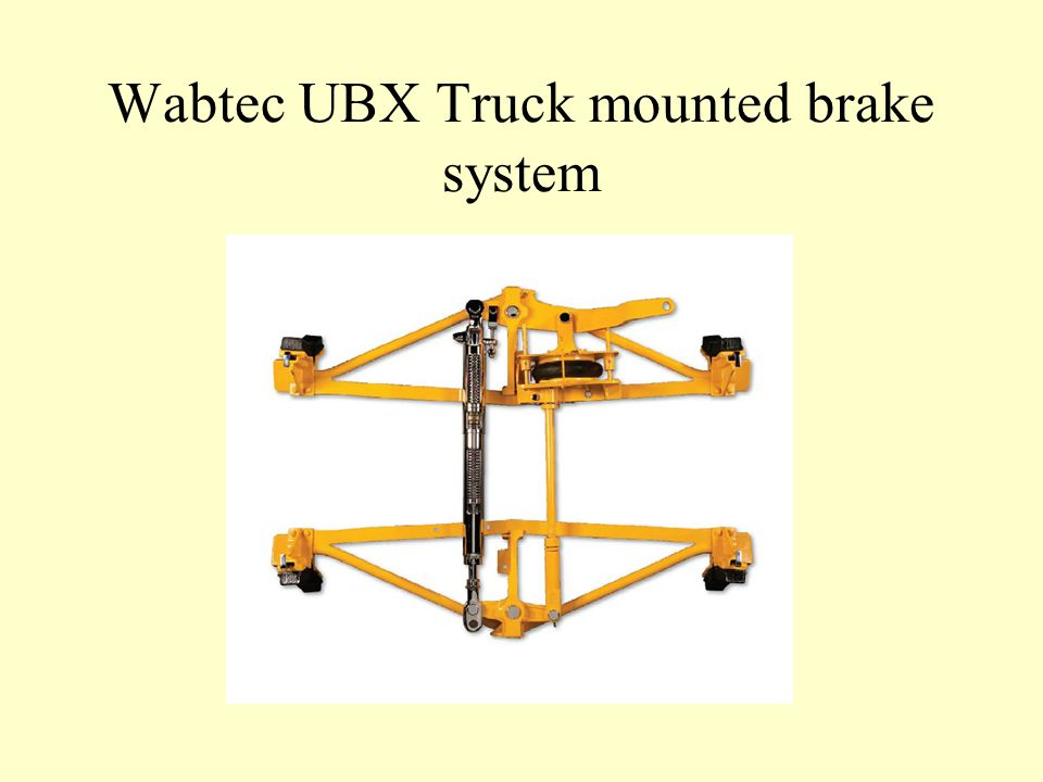 Wabtec UBX Truck mounted brake system
