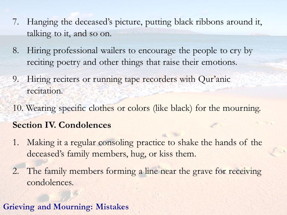 9. Hiring reciters or running tape recorders with Qur'anic recitation.