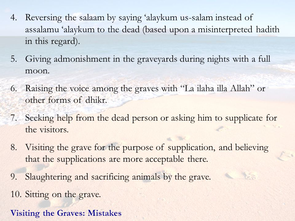 Slaughtering and sacrificing animals by the grave.