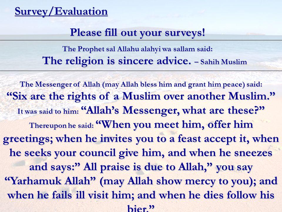 Please fill out your surveys!