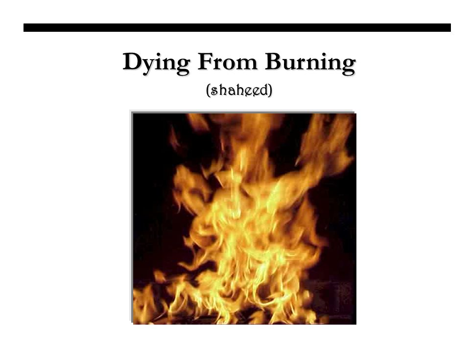 Dying From Burning (shaheed)