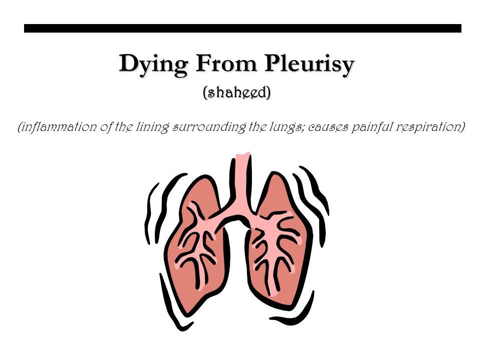 Dying From Pleurisy (shaheed)