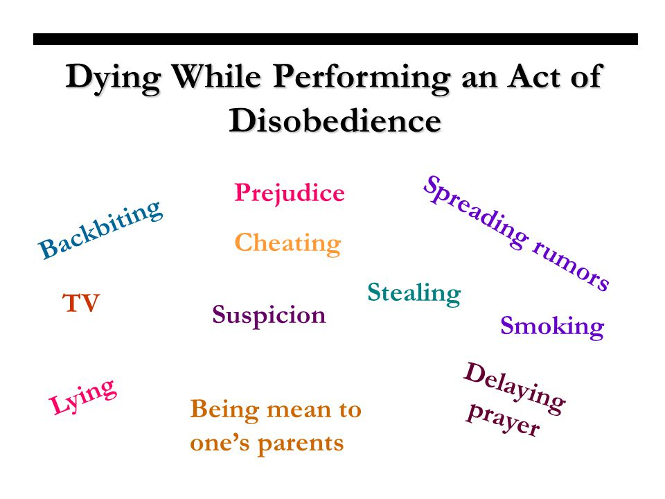 Dying While Performing an Act of Disobedience
