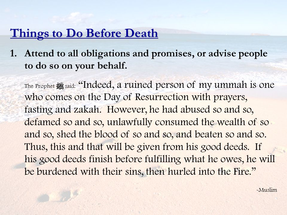 Things to Do Before Death