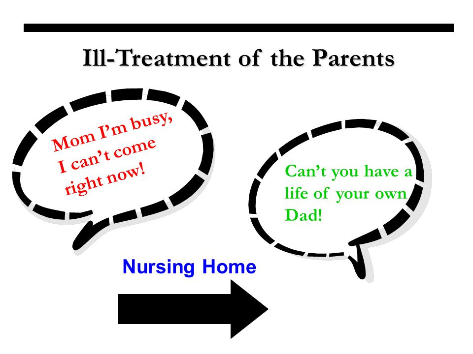 Ill-Treatment of the Parents