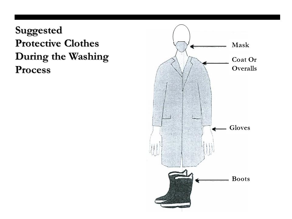 Suggested Protective Clothes During the Washing Process