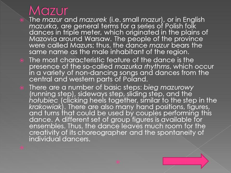Mazur MUSIC SOURCES OF MATERIAL