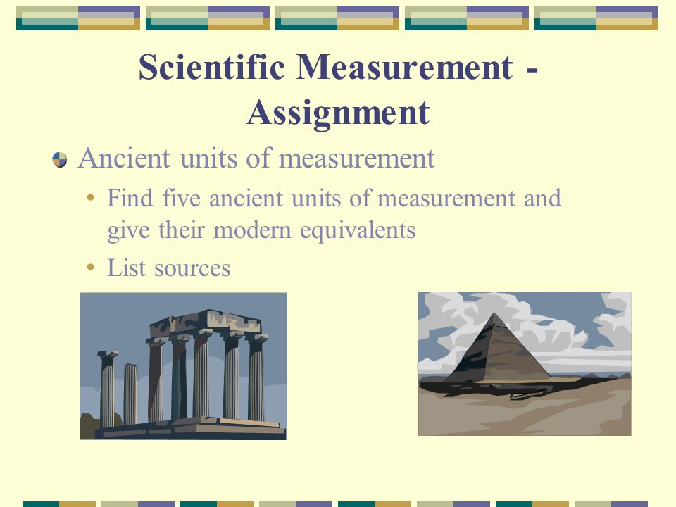 Scientific Measurement - Assignment