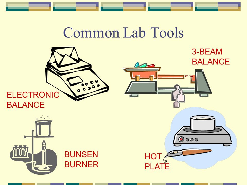 Common Lab Tools 3-BEAM BALANCE ELECTRONIC BALANCE BUNSEN BURNER