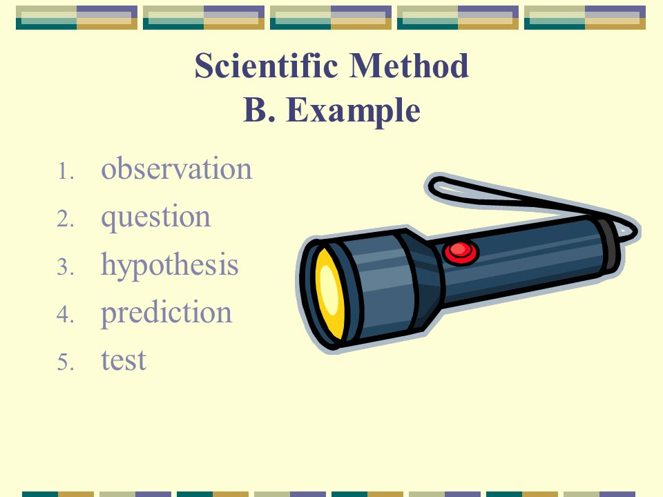 Scientific Method B. Example