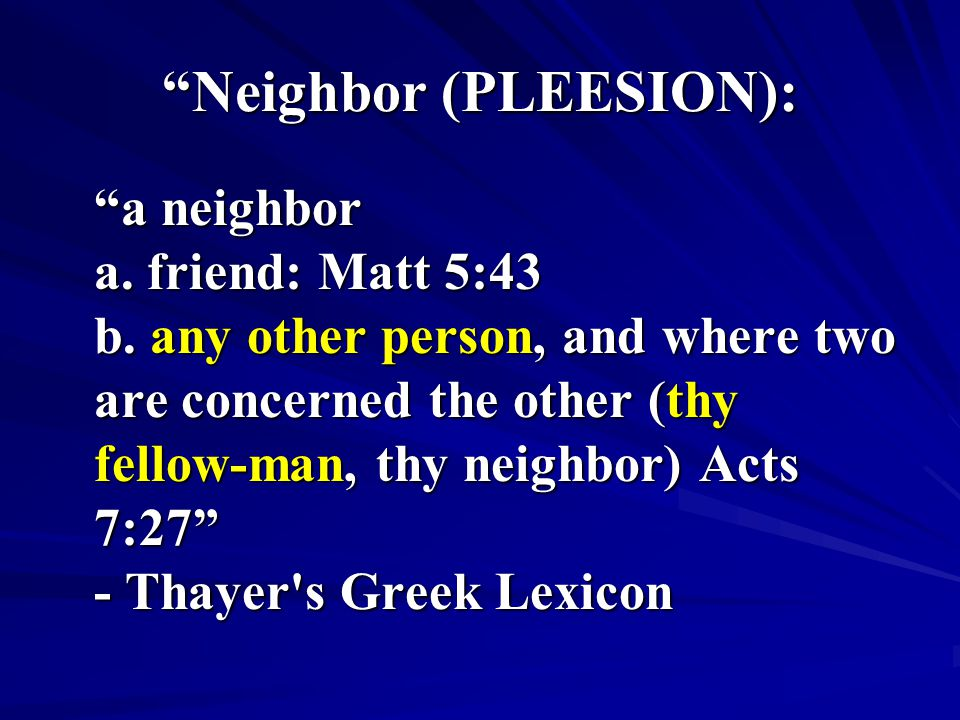 Neighbor (PLEESION):