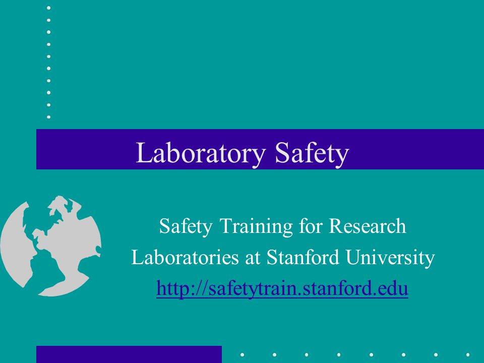 Laboratory Safety Safety Training for Research