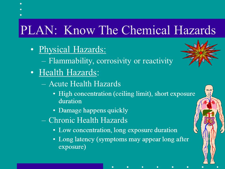 PLAN: Know The Chemical Hazards