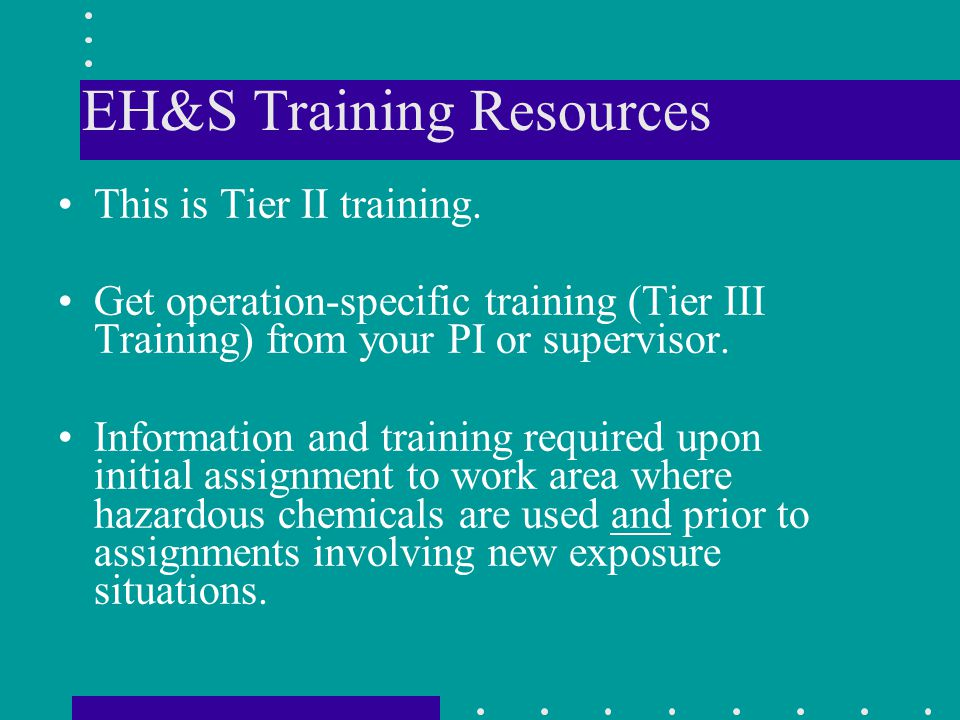EH&S Training Resources