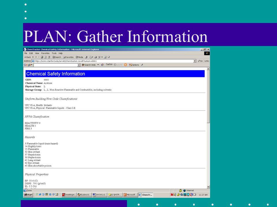 PLAN: Gather Information