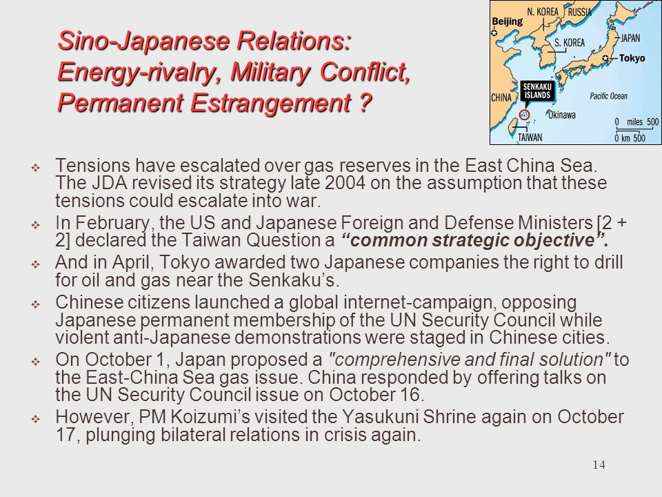 Sino-Japanese Relations: Energy-rivalry, Military Conflict, Permanent Estrangement