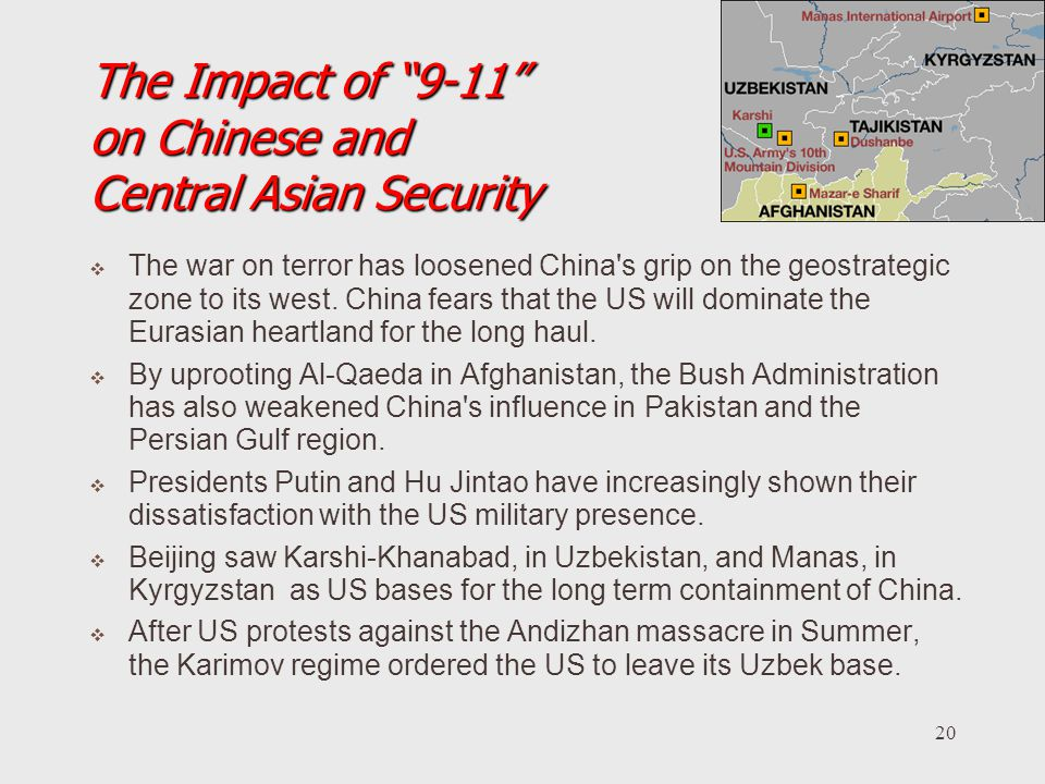 The Impact of 9-11 on Chinese and Central Asian Security