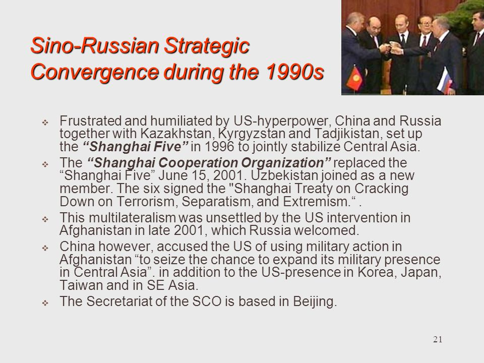 Sino-Russian Strategic Convergence during the 1990s