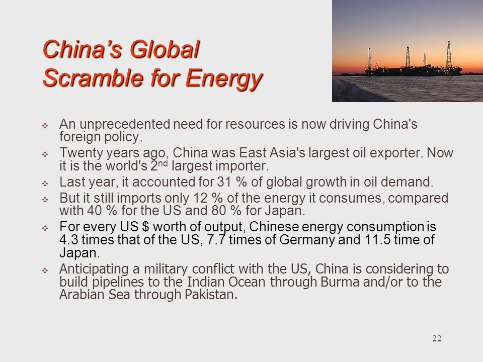 China's Global Scramble for Energy