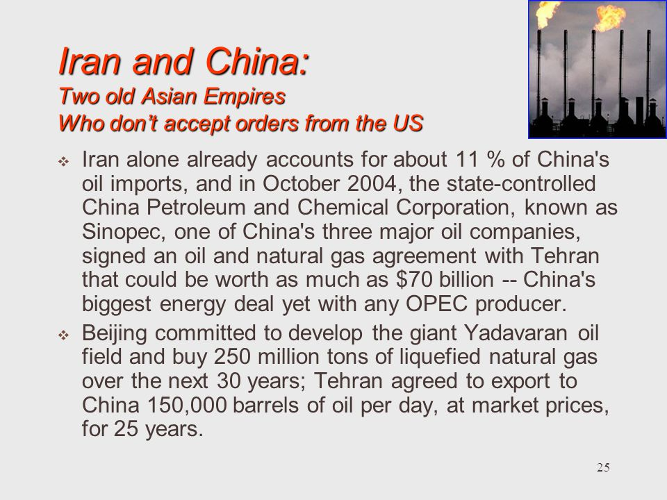 Iran and China: Two old Asian Empires Who don't accept orders from the US
