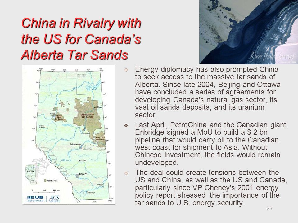 China in Rivalry with the US for Canada's Alberta Tar Sands